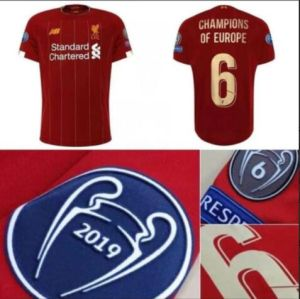 newest e407b d4992 L-I-V-E-R-P-O-O-L 2019 2020 League New Patches Mohamed Salah Home Away 3rd  Grey Wijnaldum Origi Football Shirts Soccer Jerseys