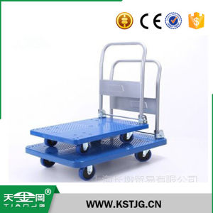 cfecaeba5eb8 Tjg High Quality Metal Platform Cart Dolly Folding Foldable Moving  Warehouse Push Hand Truck Trailer
