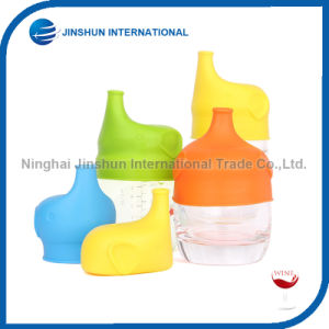 Food Grade Silicone Cups Lids with Spill-Proof Elephant Sippy Cup Lids