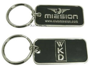 Key Chain with Doube Sides Soft Enamel with Epoxy