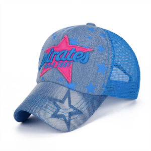 Adult Fashion Cotton Denim Nylon Mesh Baseball Cap (YKY3444) pictures & photos