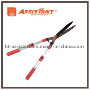 Hedge Shears with Undulated Blade and Anodized Aluminum Telescopic Handles