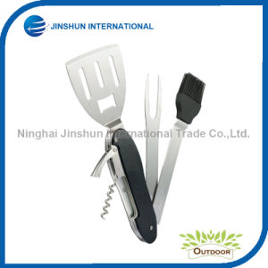 5-in-1 Folding and Removable BBQ Tools