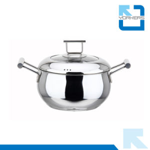 20cm High Quality Cookware 304 Stainless Steel Stock Pots pictures & photos