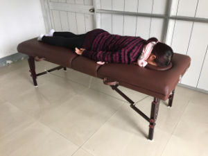 Timber Massage Table with Adjustable Backrest (MT-009-2H) pictures & photos