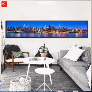 Large Size Seaside Urban Decoration Canvas Oil Painting