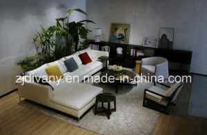 Italian Modern Style Living Room Leather Sofa Furniture (D-71)
