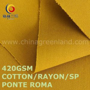 Cotton Rayon Spandex Ponte Roma Knitted Fabric for Garments Industry (GLLML482) pictures & photos