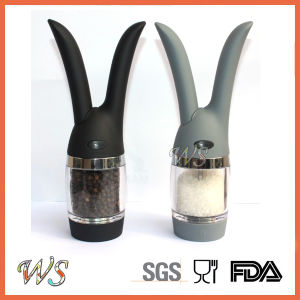 Ws-Pgs013 Fashion Style Rabbit Salt and Pepper Mill Set Manual Pepper Grinder Set