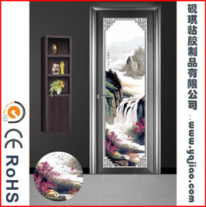 Self Adhesive PVC Decorative Stained Glass Window Film for Door pictures & photos