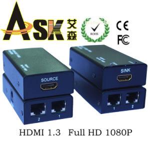 1x4 4K HDMI Splitter Extender over Cat5e//6 Ethernet 1080p 3D 4.95Gbps w// EDID