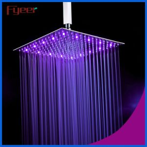 16 Inch Brushed Ultra Thin Stainless Steel LED Shower Head pictures & photos
