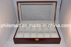 2014 Hotsell 12 Grids Wood / Wooden Watch Jewelry Box pictures & photos