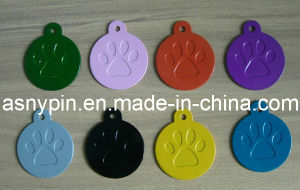 China Free Sample Colorful Paw Engraved Blank Pet Dog Tags
