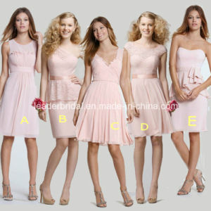 Custom Made Party Prom Gowns Short Chiffon Lace Bridesmaid Dress Yao103001 pictures & photos