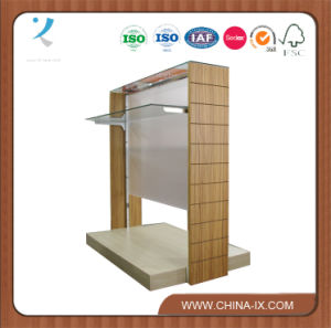 Two Sided Retail Display Rack with Tempered Glass Panel pictures & photos