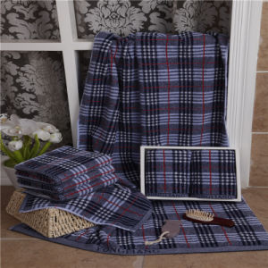 100% Cotton Yarn Dyed Jacquard Towel Set