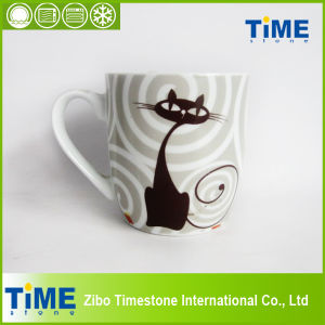 Cartoon Design Pretty Ceramic Cat Mug (82505) pictures & photos