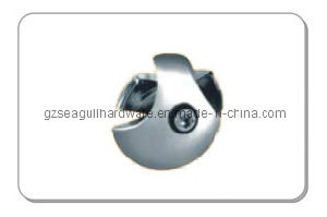 25mm Chrome Round Steel Tube Connector