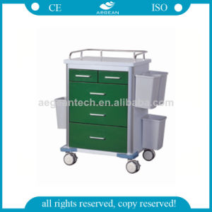 AG-GS002 Durable Use Stainless Steel Hospital Trolley pictures & photos