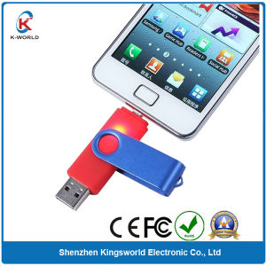 Two Ports Plastic 8GB OTG USB Flash Drive for Smart Phone (KW-0143)