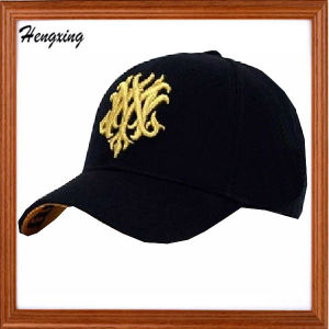 Custom 3D Embroidery Black Cotton Baseball Caps pictures & photos