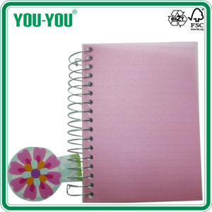 Spiral Notebook /PP Notebook/Single Spiral Notebook with PP Cover+Foil/360pages