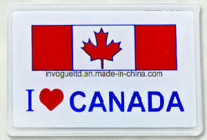 Canada Flag Acrylic Fridge Magnet (FM-15) pictures & photos