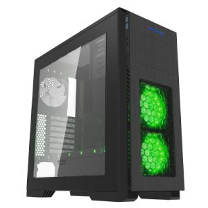 Black Full Tower RGB Gaming Case with Transparent Window pictures & photos