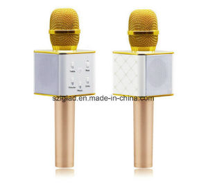 New Fashion USB Microphone Q7 Q9 KTV Karaoke Handheld Mic Speaker Wireless Microphone M8 for Ios Android Smartphone and TV
