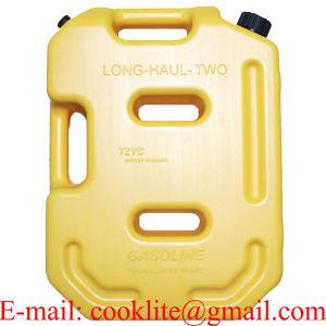 3 x Benzinkanister 5 Liter Orange Kraftstoffkanister Kunststoff Reservekanister