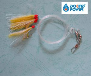 Flasher Sabiki Rigs Fish Skin Baits Fishing Rigs Lures with Hook 2//0