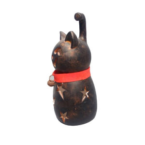 Ceramic Arfts Cat Design Hollow-out Candle Holder pictures & photos