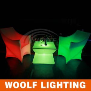 Light Up PE Plastic Chairs/LED Chair/Light Seat