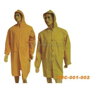 Polyester Waterproof Long Rain Coat for Medical pictures & photos
