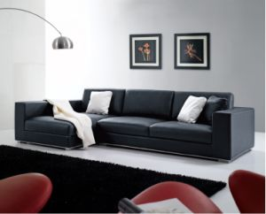High Quality L Shape Leather Sofa For House Design Sf014