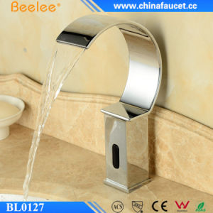 Hands Free Infrared Automatic Sensor Faucet with Waterfall Spout