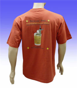 Custom Soft Short Sleeves O-Neck 100% Cotton T-Shirt pictures & photos