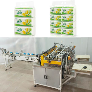 Semi-Auto Double Head Facial Tissue Bundling Machine pictures & photos