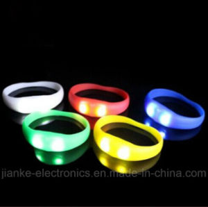 Sound Activated LED Blinky Bracelet with Logo Printed (4010)