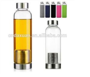 Glass Water Bottle with Tea Infuser Double Wall Mug Travel Mug pictures & photos