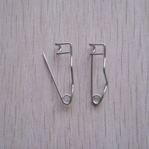 Good Quality 25mm Nickel Plated Steel Crimp Safety Pin (P160322A)