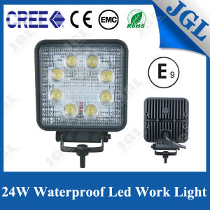 Agricultural Square White Beam 24W LED Headlight