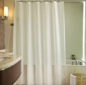 Cheap Promotional Polyester Shower Curtain for Hotel (DPF10741) pictures & photos
