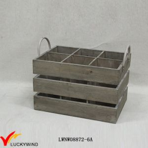 Rustic Used Looking Wine Wooden Crates pictures & photos