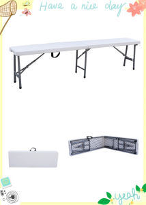 6ft Plastic Folding Bench for Catering Used