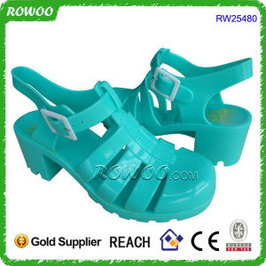 2015 Latest Fashion Girl Jelly Sandal Shoe (RW25480D)