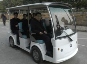 School Bus 8 Seater Electric Sightseeing Car with CE Certificate