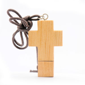 Hot Sale Wood Crucifix Shape USB Disk with Customized Logo pictures & photos