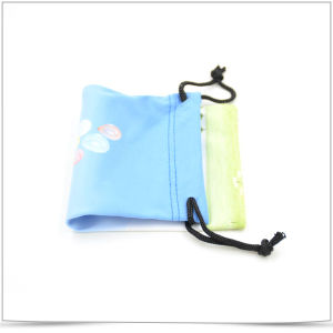 Double Side Drawstring Microfiber Transfer Printing Pouch for Phone pictures & photos